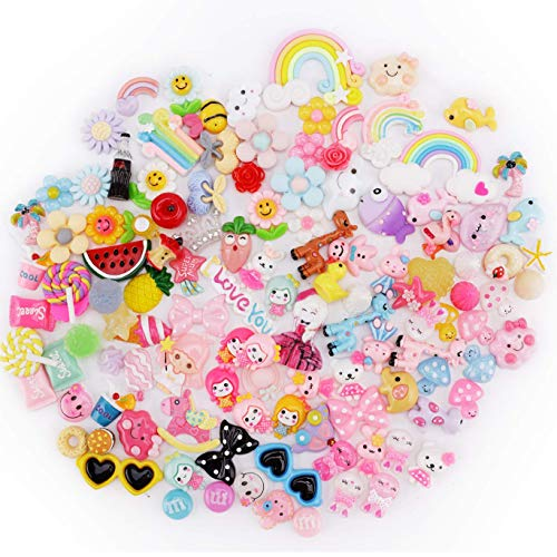 20pcs Candy Color Resin Flatback Slime Charms Pour Ornement Scrapbook À faire soi-même Crafts