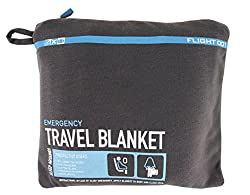 A travel blanket can help get you to sleep on a plane - important if you want to avoid jet lag!