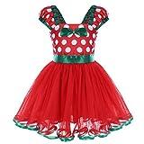 IBAKOM Disfraz de Princesa de Lunares para niñas y bebés, Vestido de tutú con Capas de Tul para Navidad o cumpleaños
