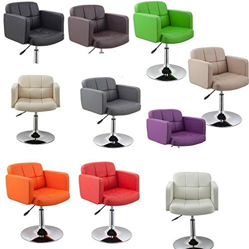 Clubsessel Sessel Kunstleder Creme Esszimmerstuhl Lounge Sessel höhenverstellbar drehbar Duhome 0493 - 4
