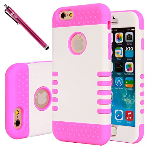 iPhone 6 Case, iPhone 6 Hybrid Armor Case, Style4U Drop Protection Slim Fit Dual Layer Hard and Soft - http://coolthings.us