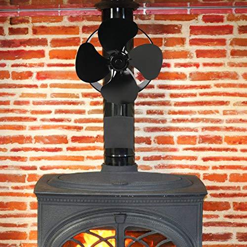 bearivt Kaminventilator Wärmebetriebener Ofen Ventilator Kamin Holzklotz-Brenner-Ventilator