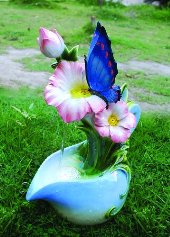 bluee Butterfly on Jug Water Feature