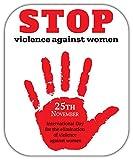 SkyLabel International Day for The Elimination of Violence Against Women Bumper Sticker Vinyl Art Decal for Car Truck Van Wall Window (8'' X 10'')