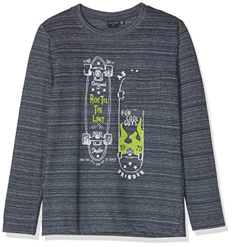 Schiesser Jungen Shirt 1/1 Langarmshirt, Blau (Dunkelblau 803), (Herstellergröße: 128)
