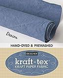 "kraft-tex Roll Denim Hand-Dyed & Prewashed: Kraft Paper Fabric, 18.5"" x 28.5' Roll (kraft-tex Designer)"