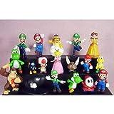 feilai Juego de 18 figuras de Super Mario Bros de 2,5 a 7,6 cm de juguete para coleccionistas, adornos de juguete