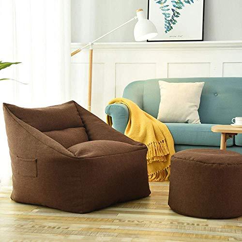 LuoMei Mobiliario de Espuma Viscoelástica Bean Bag Lazy Sofa Chair Sofá con Reposapiés para Niños Y Adultos Ideal para Cualquier Habitación Hogar Oficina Sillón de Piso Sillón de Salón Envío Gratis C