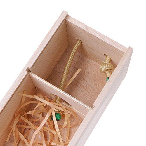 QIANGU Portabotellas, Caja de Embalaje de Regalo para Portador de Vino Tinto de Madera de Pino