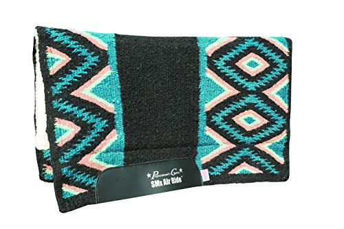 PROF Wahl EL DORADO Wolle Sattel Pad, Black/Mint