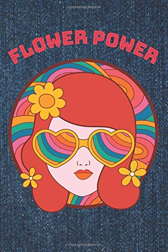 Flower Power: Draw and Write Sketchbook Journal, Half Sketch Paper and Half Wide Rule Diary, Creative Notebook for Kids and Teens, 6x9, 120 Pages for ... Drawing, and Notes, Retro Hippie Theme