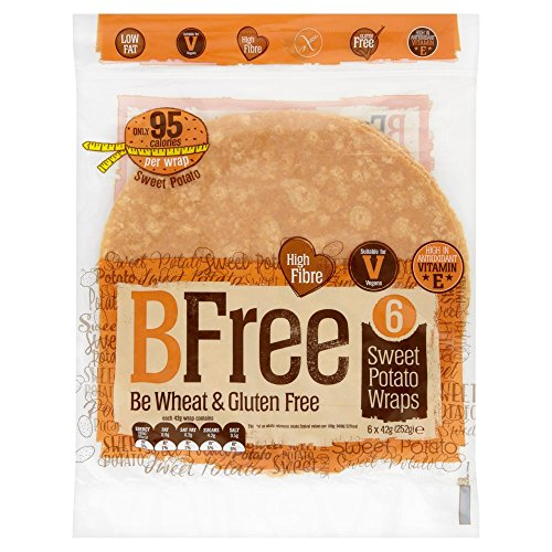 BFree Gluten Free Wrap Tortillas Sweet Potato 8 Inch Vegan Wheat Free Dairy Free