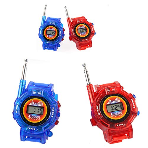 XGao Children Parent Toy Wrist Watch intercom Kids Intercom Set Outdoor LCD Walkie Best Gifts for with Packing Talkie Child Outdoors Games Girls Boys Interphone Set Outdoor Best Gifts (AS Show)