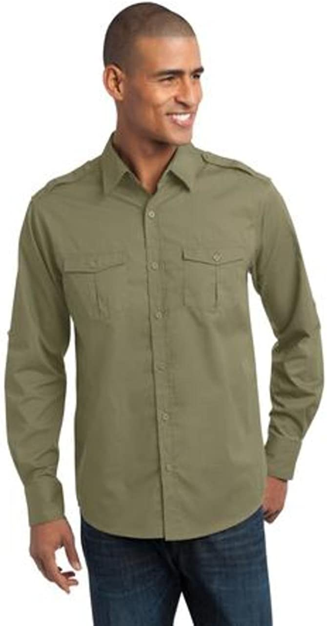 Port Authority Men's Stain Resistant Roll Sleeve Twill Shirt