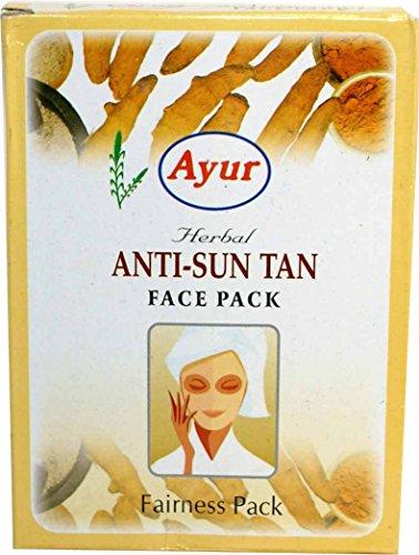 Ayur Herbals Ayur Herbal Anti-Sun Tan Fairness Face Pack Powder - Pack Of 6 (100Gm*6) 600 Gms