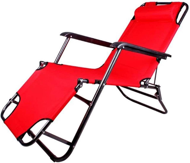 Reclining Chair, Zero Gravity Garden Sun Lounger Sun Bed Recliner Reclining Folding Reflexology Garden Furniture Chair (color   Red, Size   153  62  30)