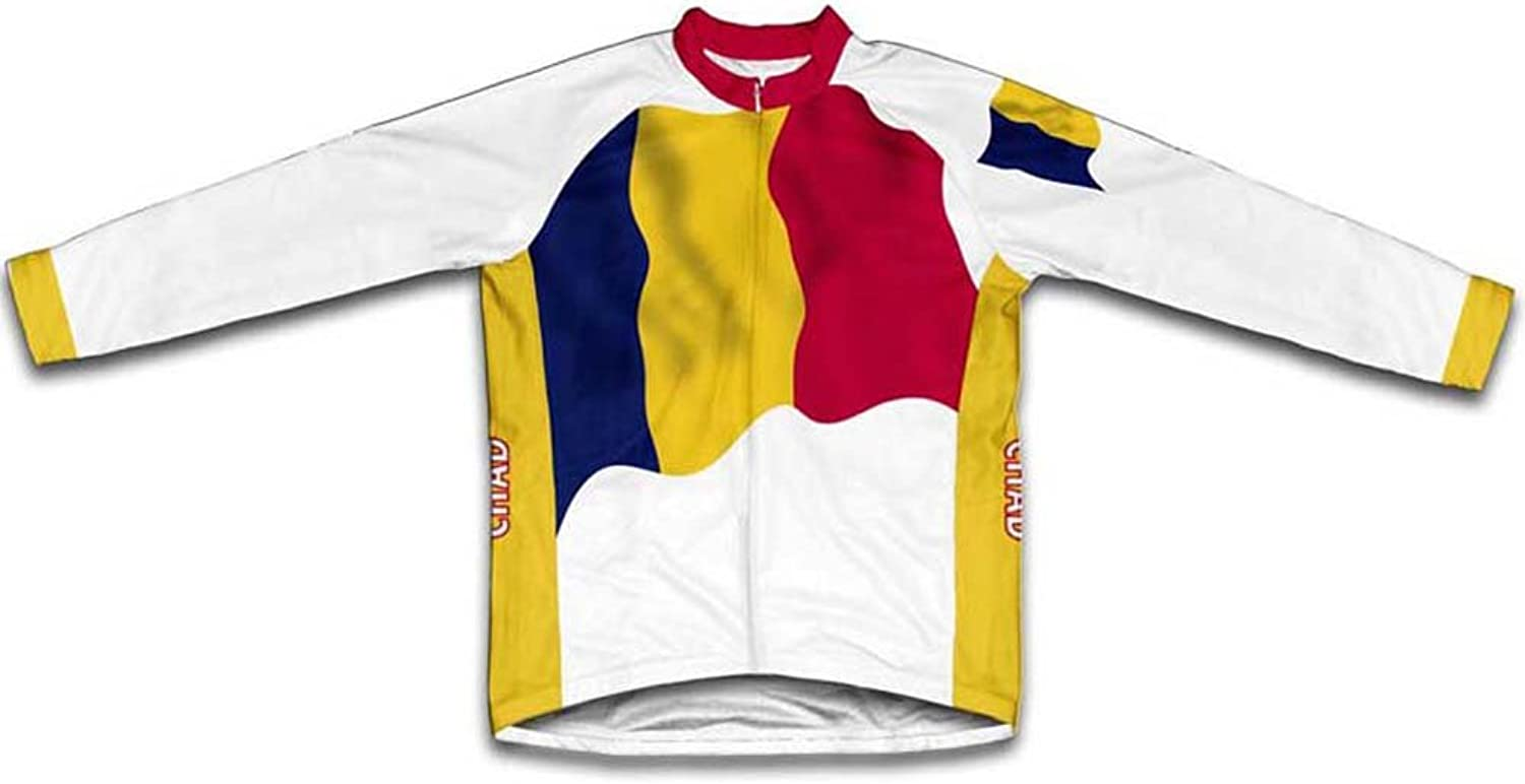 Chad Flag Winter Thermal Cycling Jersey for Women