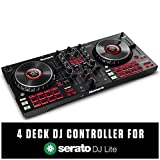 Numark Mixtrack Platinum FX - DJ-Controller für Serato DJ mit 4-Deck Kontrolle, DJ-Mixer,...