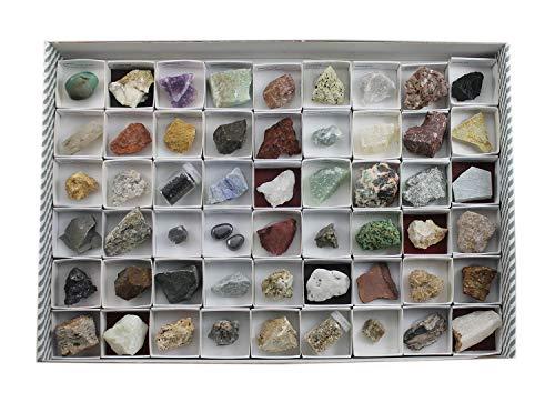 Arcoci Colección de 54 minerales y Rocas