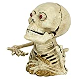 Design Toscano Bugged-Out Hungry Skeleton Mechanical Coin Bank, 6 Inch, Faux Bone Finish