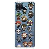 Funda para Samsung Galaxy A12 Oficial de Harry Potter Personajes Iconos. Protege tu móvil con la Carcasa para Samsung de Silicona Oficial de Harry Potter.