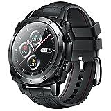 CUBOT C3 - Reloj inteligente para hombre, pantalla táctil de 1,3 pulgadas, resistente al agua hasta 5 ATM, reloj redondo de negocios con podómetro, compatible con iOS/Android, color negro