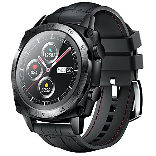 CUBOT C3 Smartwatch, 1.3 Pollici Full Touch Activity Tracker Fitness Tracker, Orologio da polso business, 5ATM Impermeabile Pedometro, Cardiofrequenzimetro, per iOS / Android, per Uomo Donna Nero
