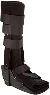 Sammons Preston Low Profile Fixed Ankle Walker High, Medium, Comfort Brace for Recovery and Rehabilitation, Medical and Patient Use for Fractures, Ankle Sprains, Foot Injuries, Long Time Wear