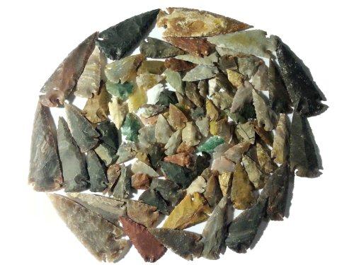 100 puntas de flecha y puntas de lanza de 2,5-11 cm arqueología experimental.
