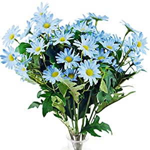Silk Flower Arrangements FiveSeasonStuff Daisy Silk Flowers, Outdoor Artificial Flowers Arrangement & Wedding Bouquet (18 Stem Flowers in 2 Flower Bundles)