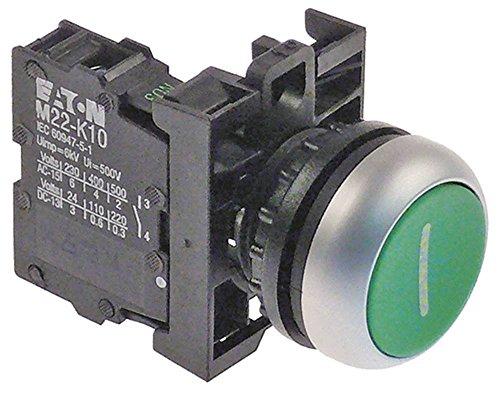 Hobart Drucktaster für Mixer HSM20, NCM20, HSM30, HSM40, NCM300 tastend ø 22,5mm Einbaumaß ø22mm grün 1NO Symbol Ein