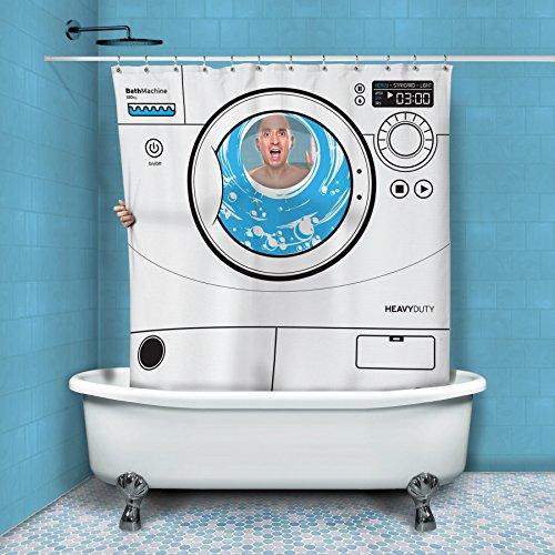 Wasmachine douchegordijn