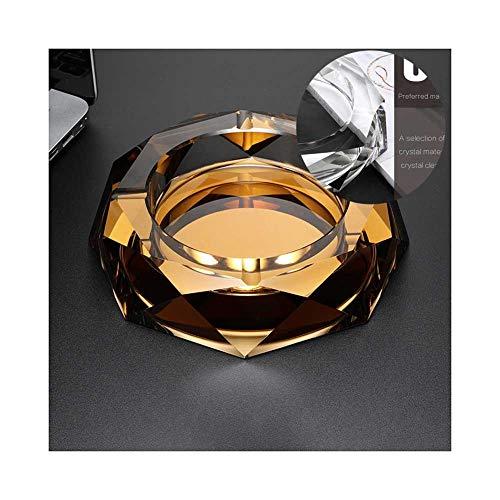 Glazen Tafelblad Asbak, Nieuwheid Moderne Asbakken Tafelblad voor Home Office Decoratie 10cm Helder