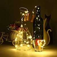 Un modo romantico per decorare: le lampadine a LED più luminose, bianche e calde e il filo di rame sottile. Le splendide luci a forma di bottiglia in sughero potrebbero creare un ambiente romantico, caldo e tranquillo. Divertiti con fai da te e buona...