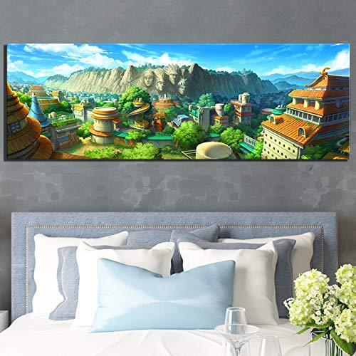 wZUN Cuadro de Dibujos Animados Naruto Anime Poster Lienzo Arte Pintura Exterior Pared del Dormitorio decoración del hogar 60x180 Sin Marco