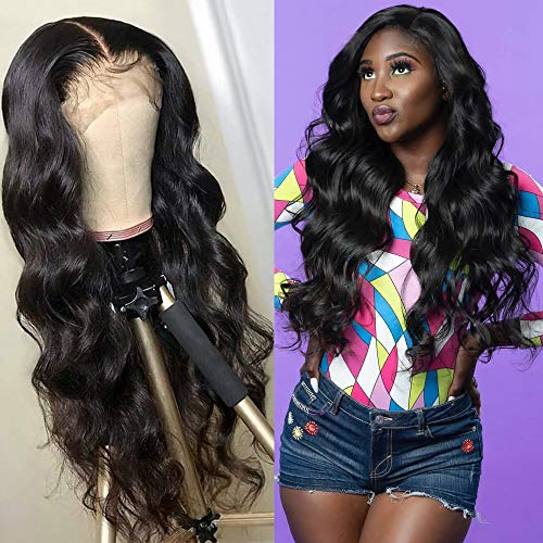 Dorosy Hair 360 Lace Frontal Wigs Free Part Body Wave Human Hair Brazilian Remy Hair Wigs Wet Wavy Lace Wigs Pre Plucked with Baby Hair(18inch with 180% density)