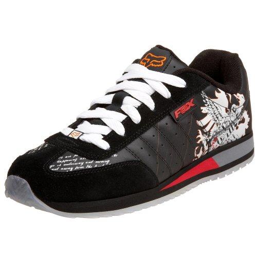 Fox Herren Scrapper Sneaker, Schwarz (schwarz/weiß), 41 EU