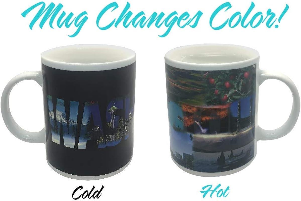 State Of Washington Color Changing Coffee Mug
