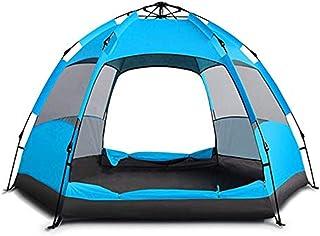 WBHD Teepee tält utomhus automatiskt tält 3-4 personer dubbel sexkant stort tält utomhus campingtält, överlevnad, cykling,...
