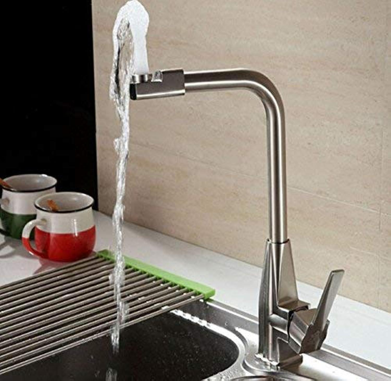 Ywqwdae Mischer Wasserhahn Küche Edelstahl warm und kalt gebürstet