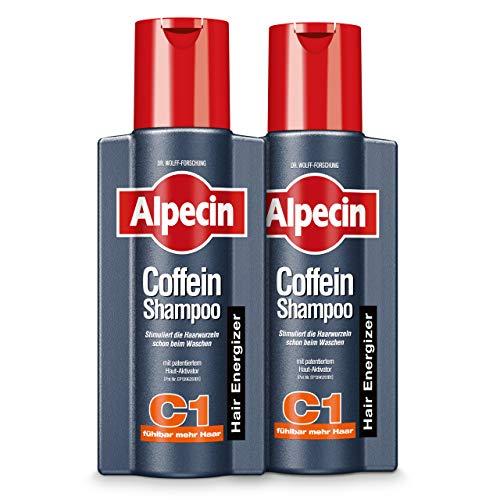 Alpecin Coffein-Shampoo C1, 2 x 250 ml - Beugt erblich bedingtem Haarausfall vor, für fühlbar mehr Haar…
