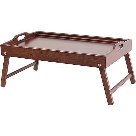 JKR おぼん型 ローテーブル ミニ 幅55 x奥行き35 x高さ24cm ハンドル付き ベッドテーブル ブラウン