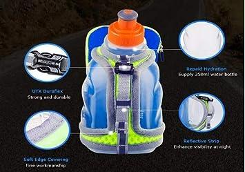 mochila de hidrataci/ón para correr 250 ml AONIJIE Botella de agua para correr soporte para mu/ñeca botella de mano senderismo ciclismo