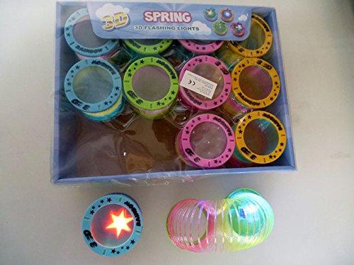 12x LED Regenbogenspirale / Treppenläufer / Spingspirale / mit 3D Muster