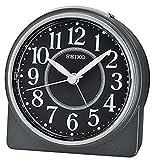 Seiko Wecker schwarz Kunststoff Schleichende Sekunde QHE137K