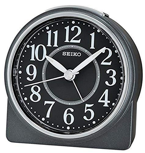 Seiko Alarm Clock Analogue Unisex Black QHE137K