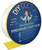 DIY Doctor, nastro biadesivo antiscivolo extraforte per tappeti, lunghezza 30 m, larghezza 50 mm
