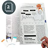 (2 Pack) MagniPros Large Full Page 3X Magnifier Premium Magnifying Sheet Fresnel Lens 7.5' X 10.5' with 3 Bonus Bookmark...