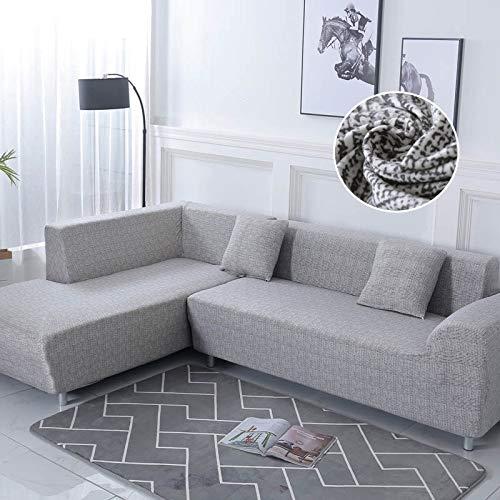 WXQY Fundas elásticas, Funda elástica para sofá, protección para Mascotas, Funda para sofá, Esquina Antideslizante en Forma de L, Funda Antideslizante para sofá A16, 4 plazas