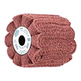 PFERD 44641202 POLINOX Schleifwalze PNG   100 x 100 mm, Keilnut 19 mm, Korund A180   für ansatzloses Strichmattieren
